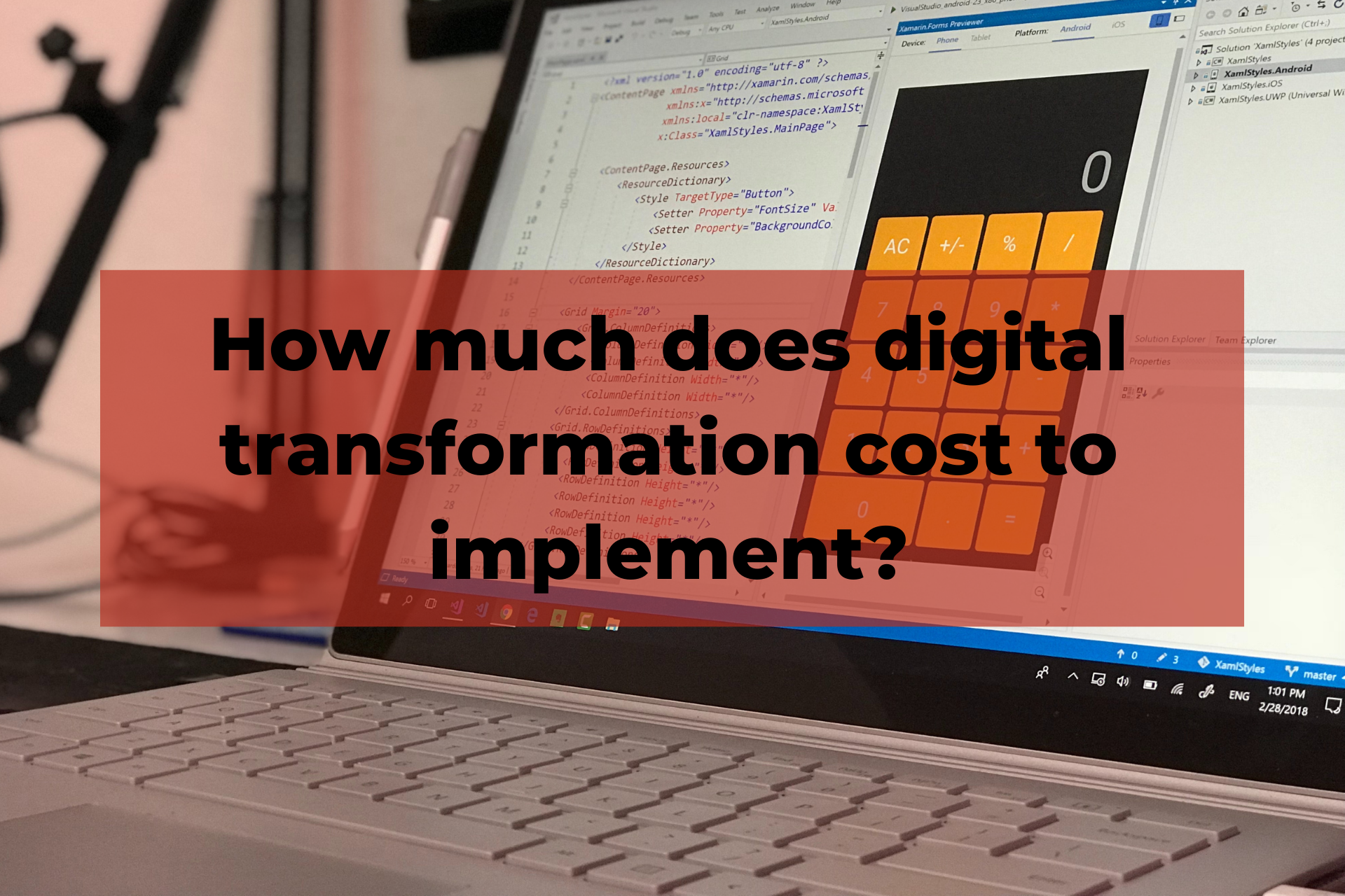 Digital transformation cost