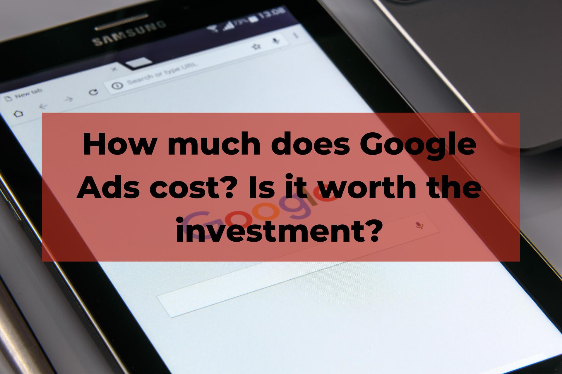 Google Ads cost